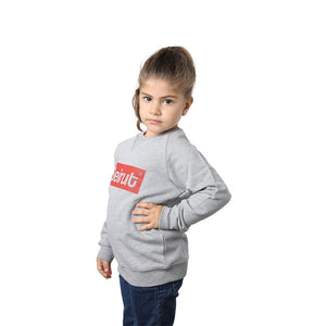 Beirut Red on Grey Kids Sweater