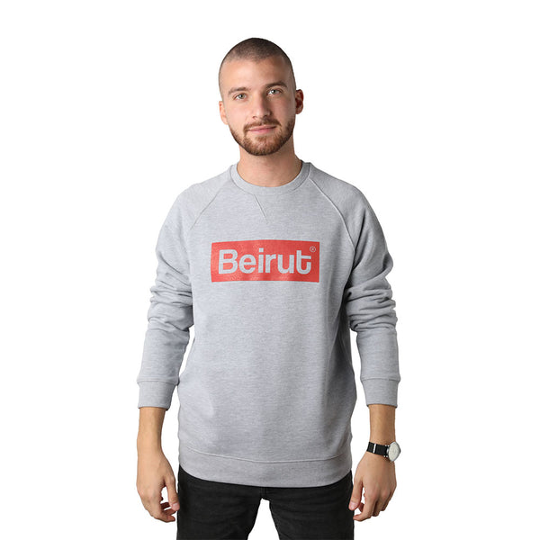 Beirut Red on Grey Men's Sweater