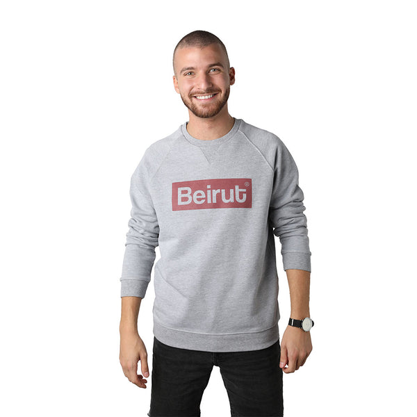 Beirut Burgundy on Grey Men's Sweater