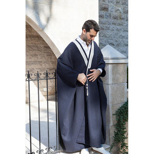 Mouftah El Chark Navy Blue Light Wool Abaya