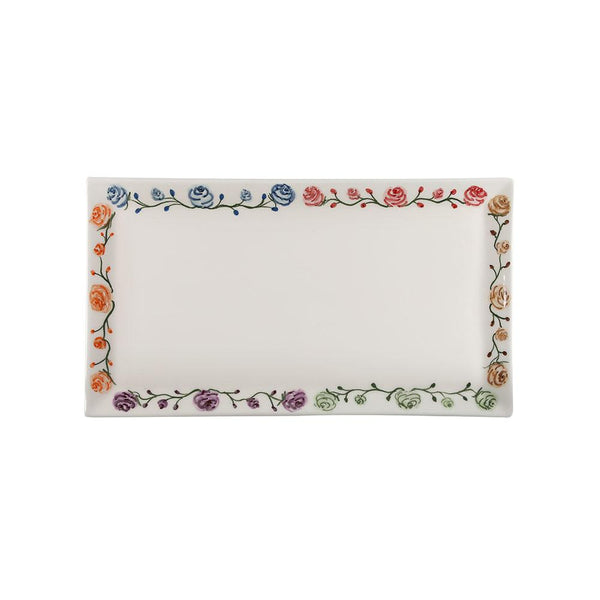 Floral Hand Painted Ceramic Tray