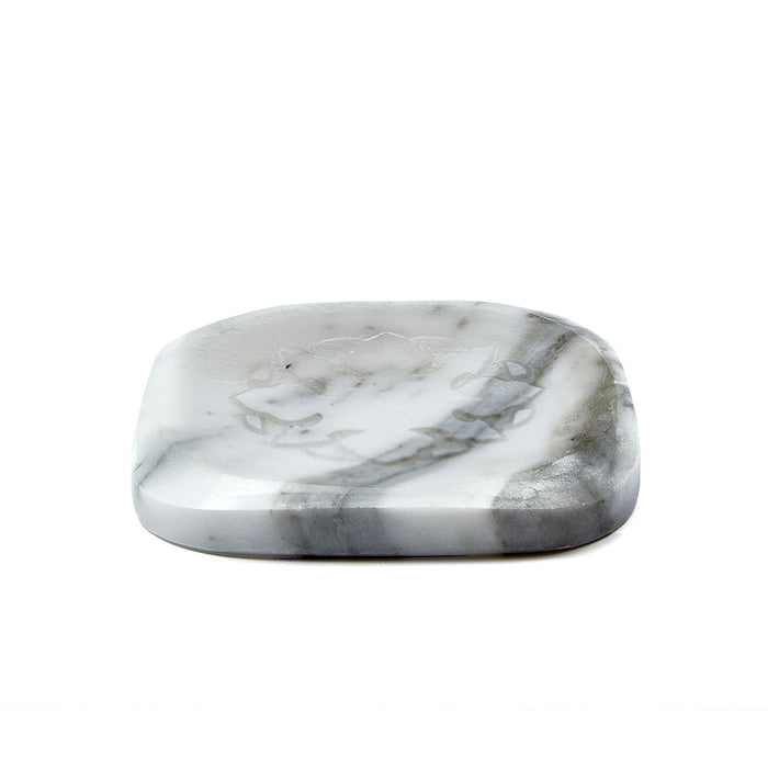 White Marble Plate with 3 Ma'amoul Soaps