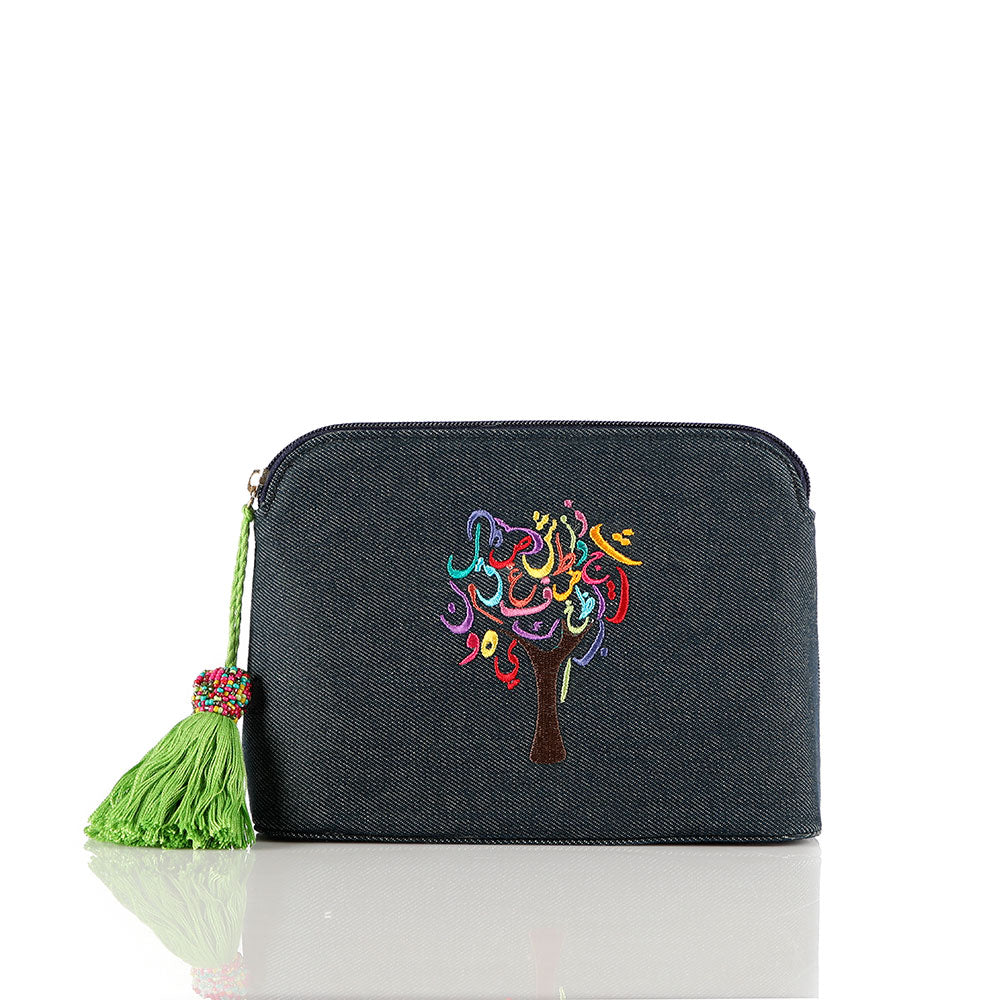 Jeans Tree of Life Pouch