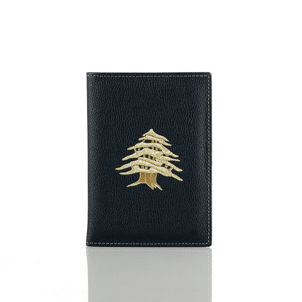 Black Cedar Passport Holder