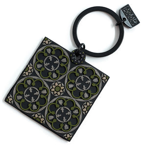 Stone Rosace Key Ring