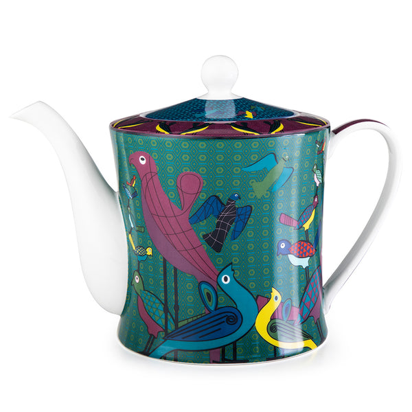 Birds of Paradise Tea Pot