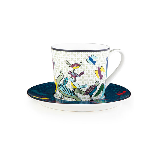 Birds of Paradise Tea Cups - Set of 4