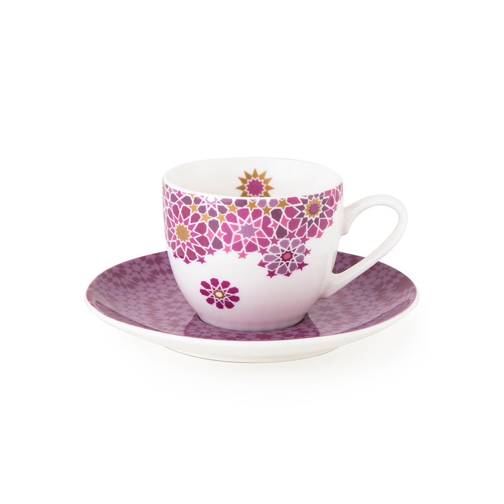 Moucharabieh Parme Coffee Cups & Saucers - Set of 4