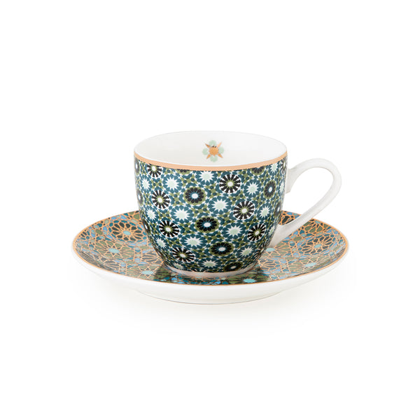 Andalusia Coffee Cups & Saucers - Set of 4