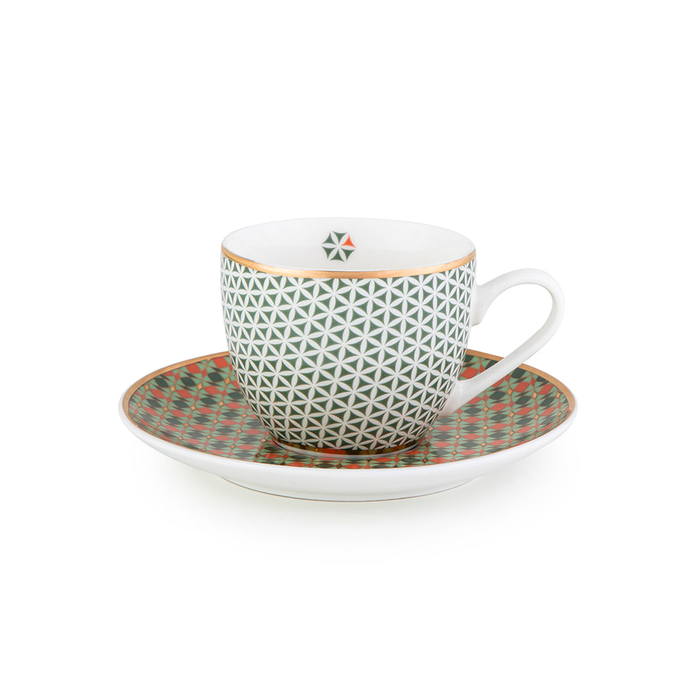 Opera Coffee Cups & Saucers - Set of 4