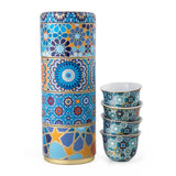 Moucharabieh Tin Box With 4 Coffee Cups 60 mL