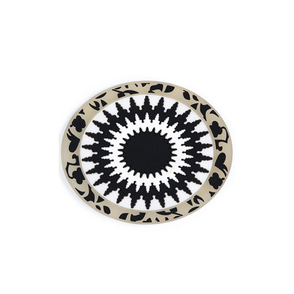 Mosaic Black & White Soap Rest