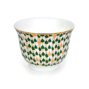 Swirl Green Chaffe Cups - Set of 6