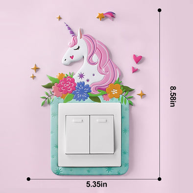 3D Unicorn Switch Luminous Sticker