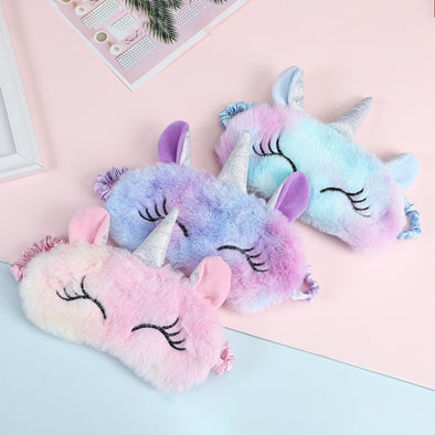 Soft Silk Unicorn Eye Mask