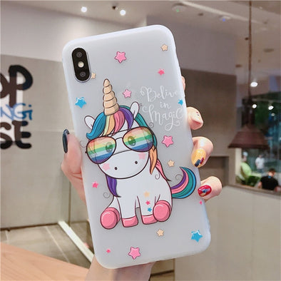 3D Emboss Unicorn Cover For iPhone