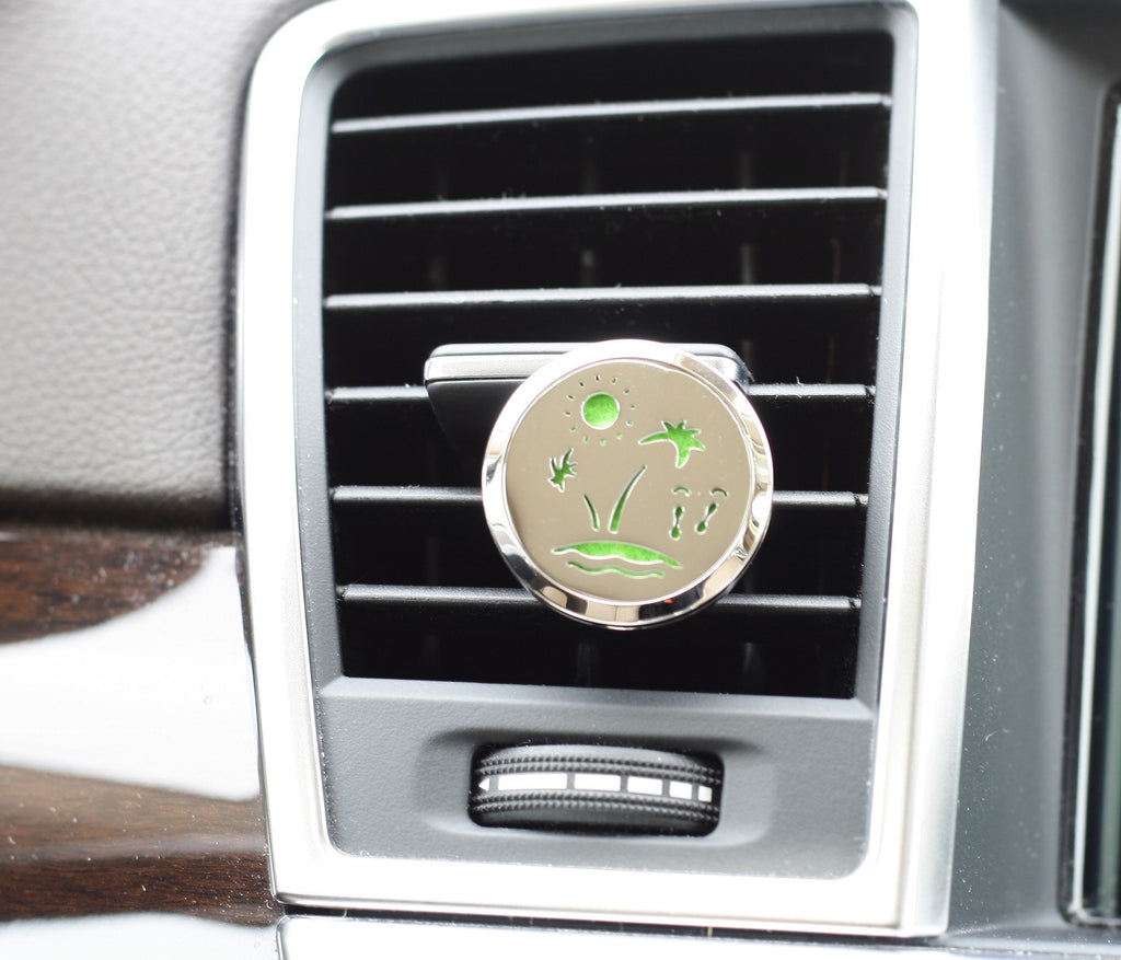 Essential Oil Car Air Freshener Diffuser - Beach model with 5ml Eucalyptus Oil
