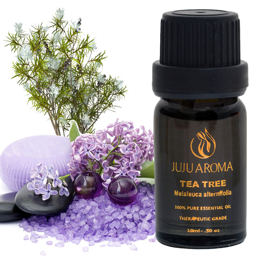 Tea Tree Essential Oil - 100% Pure, Natural and Therapeutic Grade - 10ml - By JuJu Aroma