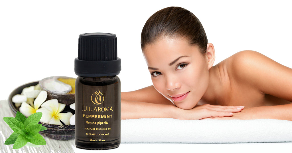Peppermint Essential Oil - 100% Pure, Natural and Therapeutic Grade - 10ml - By JuJu Aroma