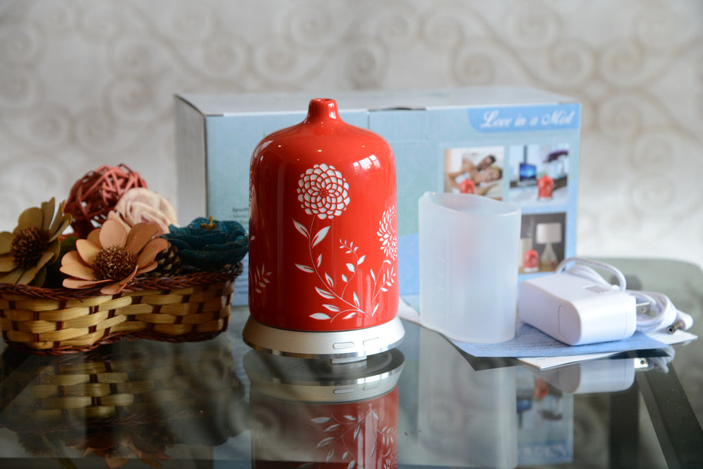 Aromatherapy Essential Oil Diffuser - Love in a Mist (Red)