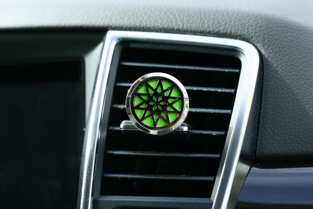 Essential Oil Car Air Freshener Diffuser -  Snowflake model with 5ml Eucalyptus Oil