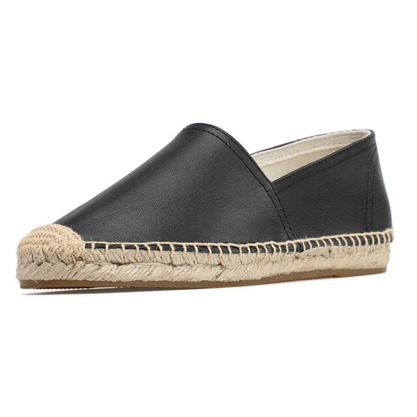 Tienda Sloludos Espadrilles For Flat Shoes Casual 2019 Hot Sale Ballet Flats Genuine Cotton Fabric Rubber Slip-on Sapatos