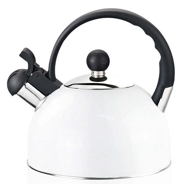 2020 Real Hot Sale Chaleira Whistling Kettle For Gas Stove Bouilloire 2.2L Stainless Steel Whistle Tea Kettle Water Bottle RU