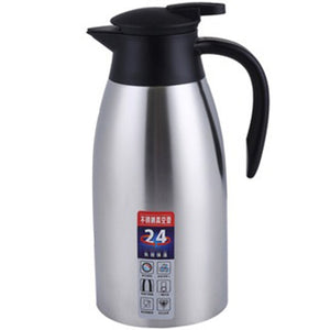 Silver 304 Stainless Steel 2L Thermal Flask Vacuum Insulated Water Pot Coffee Tea Milk Jug Thermal Pitcher for Home and Office