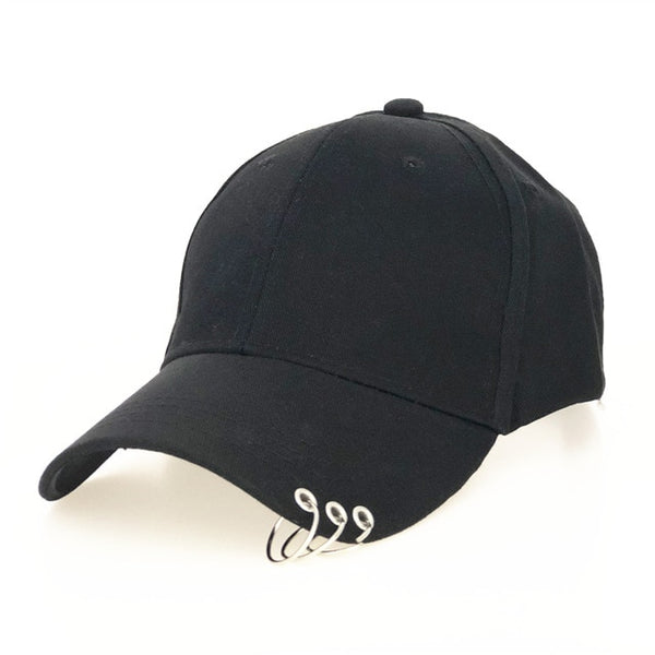 High Quality Adjustable Baseball Hat with ring Outdoor Sports Sun Cap for Women Men Fashion Snapback Hat