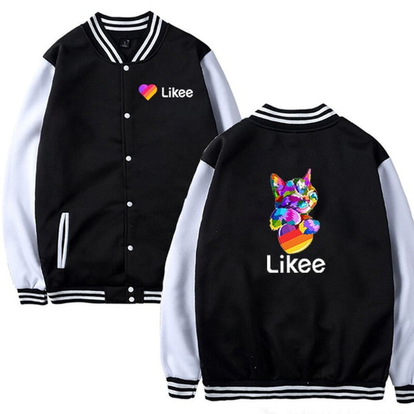 New Likee Video App jacket men women Clothing Baby Kids jacket Boys Girls Likee jacket Casual Tops Likee Animal Fox Cat jacket