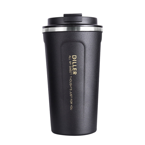 Diller Drinkware 304 Stainless Steel Thermos Men Women Sport Formal Vacuum Flasks Coffee Hot Water Bottle FDA CE 450mlNo.MLH8768