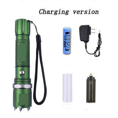 Female student self - defense flashlight anti - Wolf artifact outdoor tactical equipment charging legal self - defense