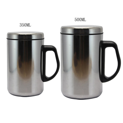 1PCs 350/500ml Double Wall Insulated Cup Stainless Steel Thermo Mug Water Bottle Vacuum Flask Coffee Tea Mug Thermos Bottles