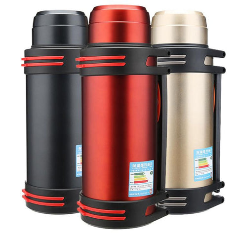 Stainless Steel Thermos Outdoor Travel Car Water Termos Cup Bottle Portable Insulation Vacuum Flask Kettles 1.2L/1.6L/2L/2.5L/3L