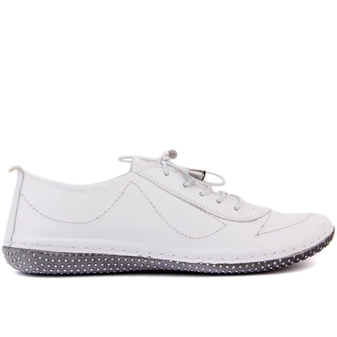 Sail-Lakers White Leather Women Casual Shoes
