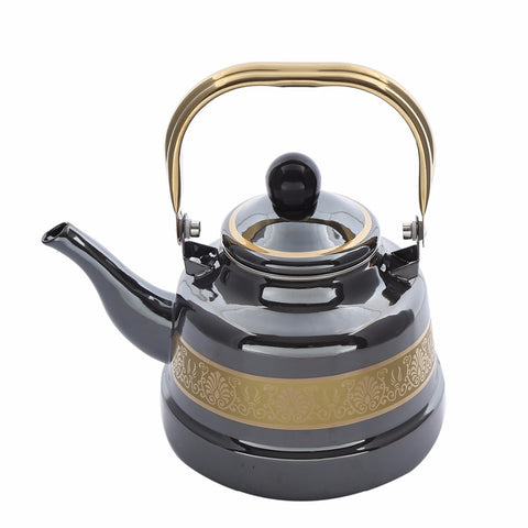 1.1,1.7,2.5L Golden Black Enamel Pot Traditional Chinese Bell shaped pot Thickened Water Kettle Electromagnetic Furnace Gas Pot