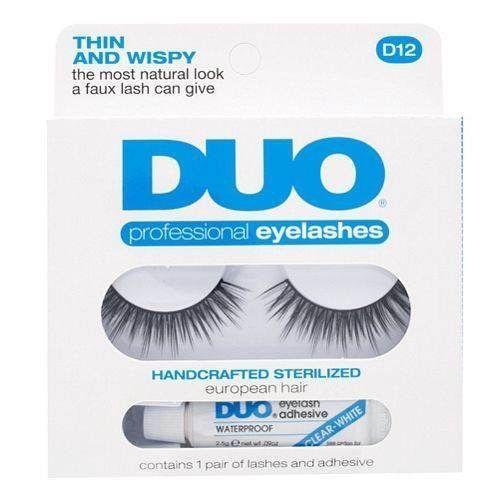 DUO Thin and Wispy Eyelashes D12 - WITHOUT GLUE