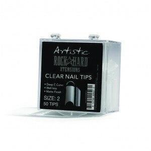 Artistic Rock Hard Xtentions Clear Nail Tips 50ct Size 2