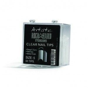 Artistic Rock Hard Xtentions Clear Nail Tips 50ct Size 5