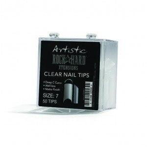 Artistic Rock Hard Xtentions Clear Nail Tips 50ct Size 7