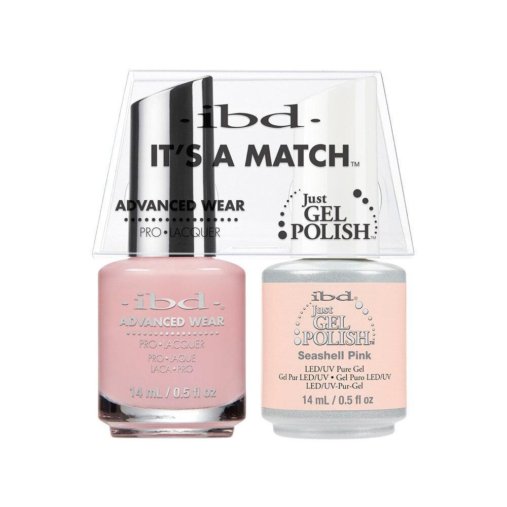 ibd Gel Polish & Lacquer Duo - Seashell Pink