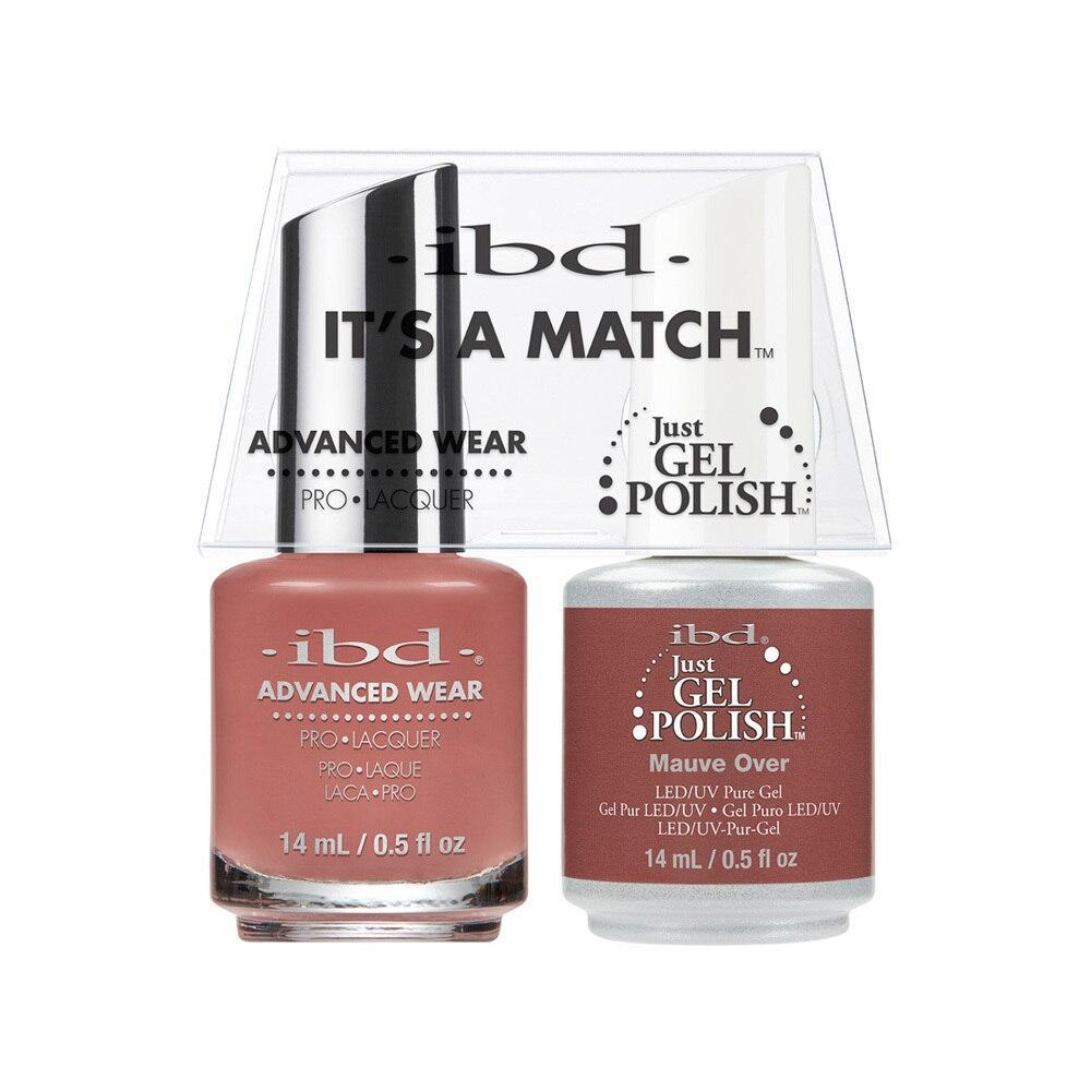 ibd Gel Polish & Lacquer Duo - Mauve Over