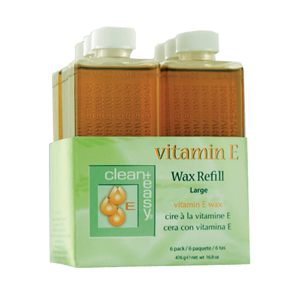 Clean & Easy Vitamin E Leg Refill 6 Pack