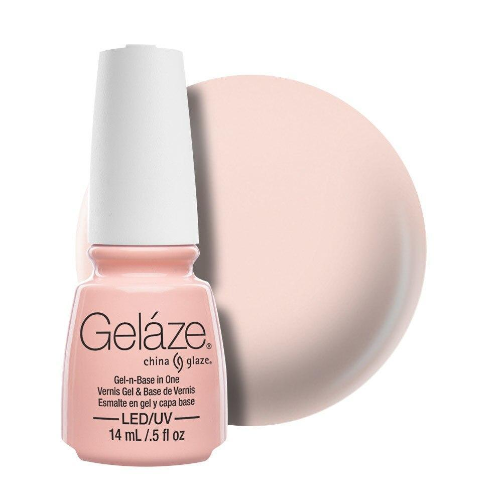 China Glaze Gelaze Gel & Base 14ml - Diva Bride