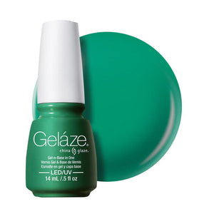 China Glaze Gelaze Gel & Base 14ml - Four Leaf Clover