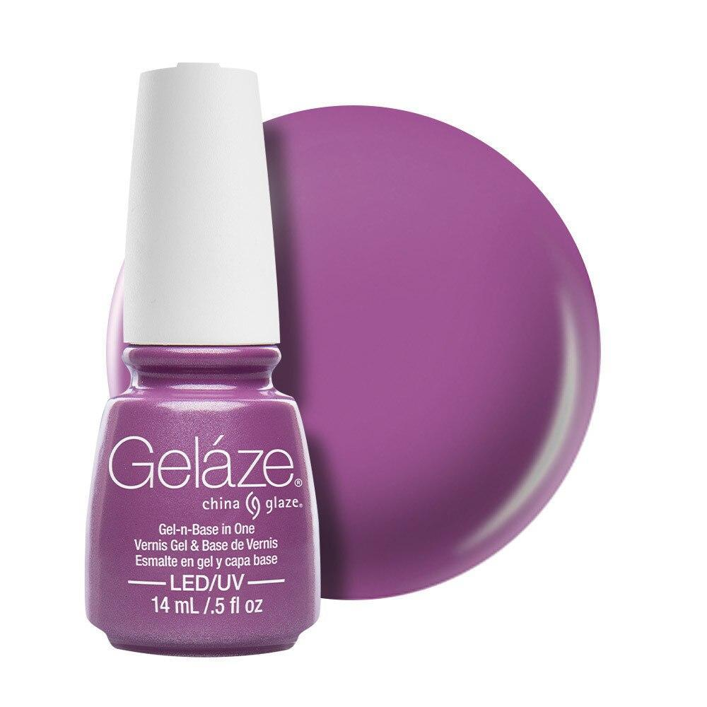 China Glaze Gelaze Gel & Base 14ml - Spontaneous
