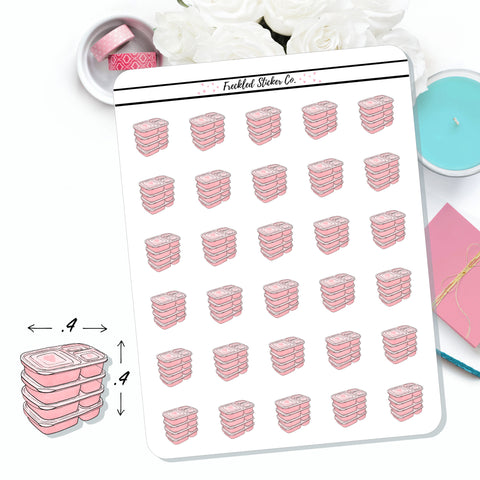 Pink Meal Prep Stickers