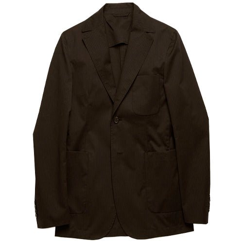 Jesup Pinstipe Suit Jacket Black