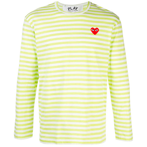 Striped LS T-shirt Lime Green