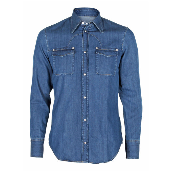 Denim Skjorte Blue
